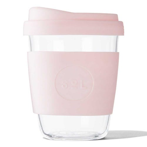 SoL Reusable Glass Cup Perfect Pink (12oz)