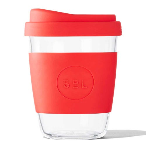 SoL Reusable Glass Cup Rocket Red (12oz)