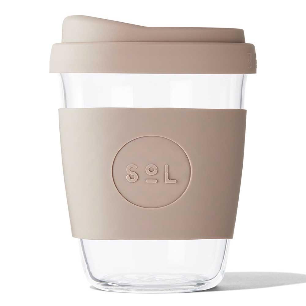 SoL Reusable Glass Cup Seaside Slate (12oz)