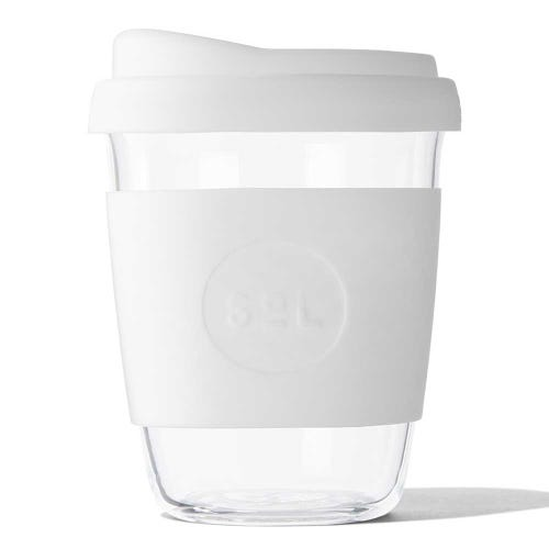 SoL Reusable Glass Cup White Wave (12oz)