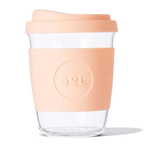 SoL Reusable Glass Cup Paradise Peach (4oz)
