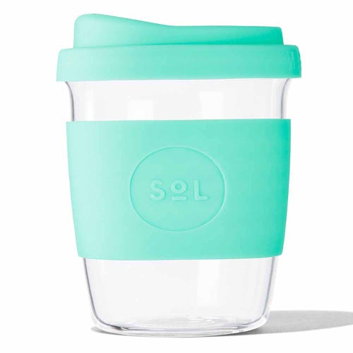 SoL Reusable Glass Cup Mighty Mint (8oz)