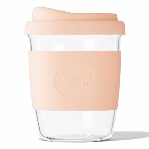 SoL Reusable Glass Cup Paradise Peach (8oz)