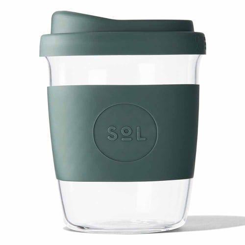 SoL Reusable Glass Cup Deep Sea Green (8oz)