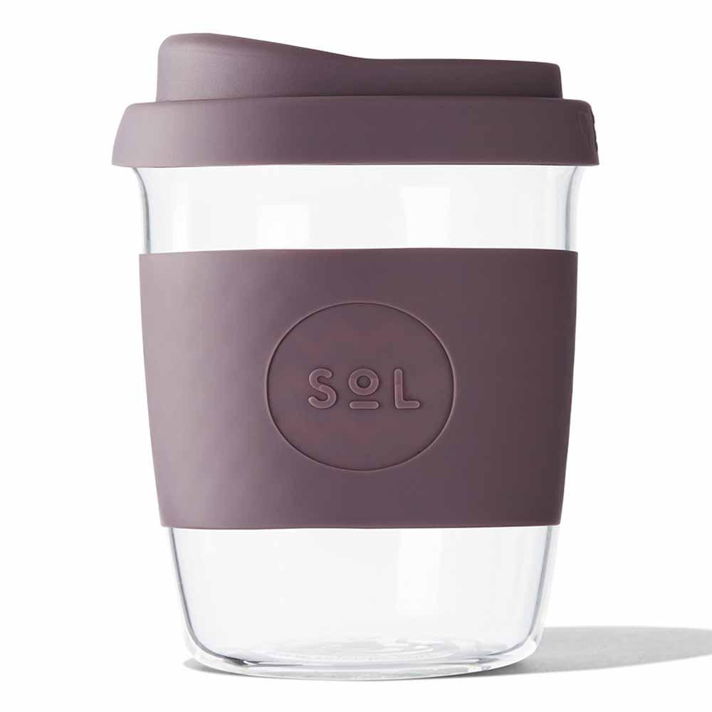SoL Reusable Glass Cup Mystic Mauve (8oz)