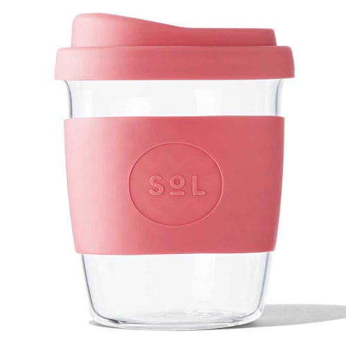 SoL Reusable Glass Cup Radiant Rose (8oz)