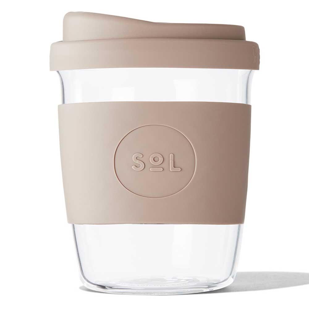 SoL Reusable Glass Cup Seaside Slate (8oz)