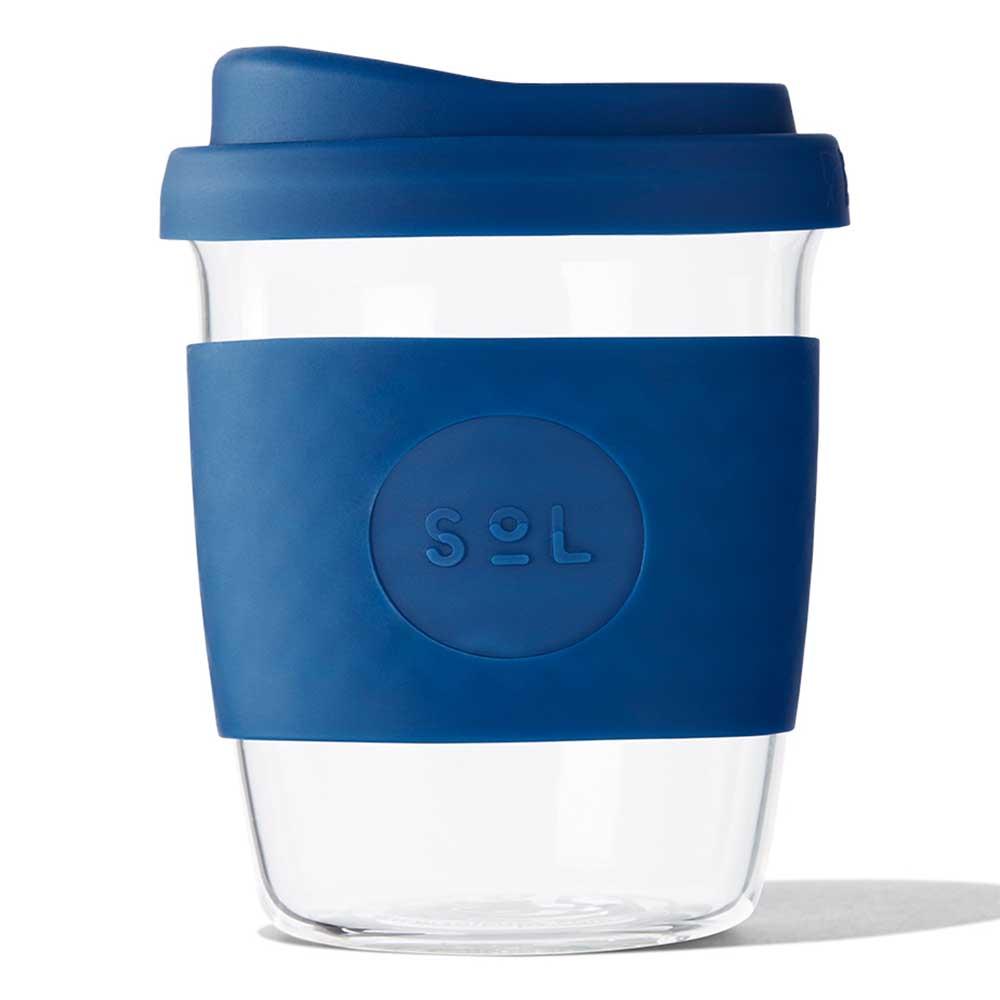 SoL Reusable Glass Cup Winter Bondi Blue (8oz)