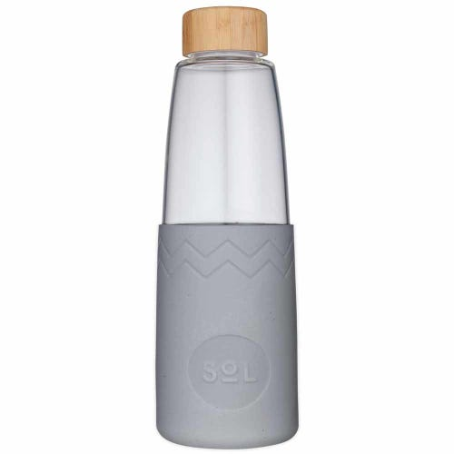 SoL Reusable Glass Bottle Cool Grey (850ml)