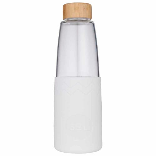 SoL Reusable Glass Bottle White Wave (850ml)
