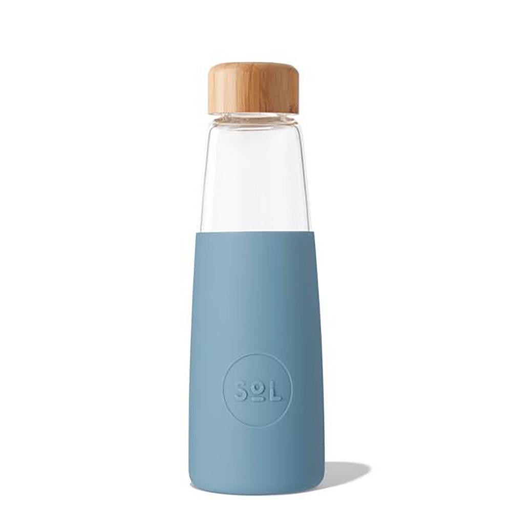 SoL Reusable Glass Bottle Blue Stone (410ml)