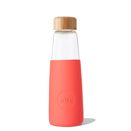 SoL Reusable Glass Bottle Tropical Coral (410ml)