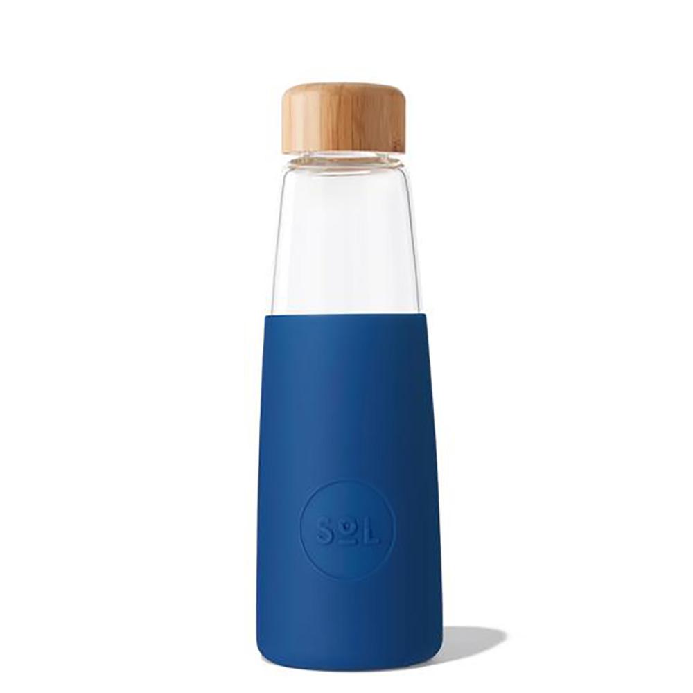 SoL Reusable Glass Bottle Winter Bondi Blue (410ml)