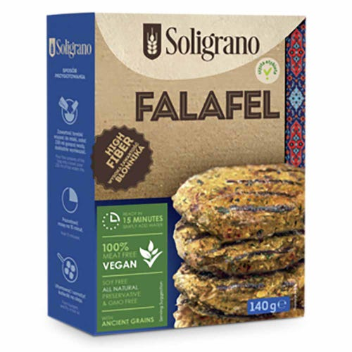 Soligrano Falafel with Chickpeas and Spelt (140g)