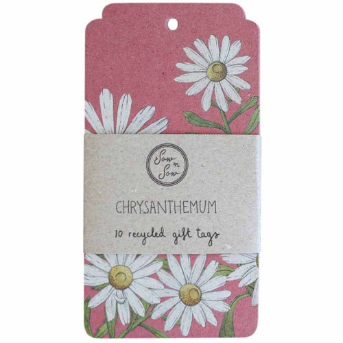 Sow n Sow Gift Tags - Chrysanthemum (10 Pack)