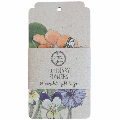 Sow n Sow Gift Tags - Culinary Flowers (10 Pack)