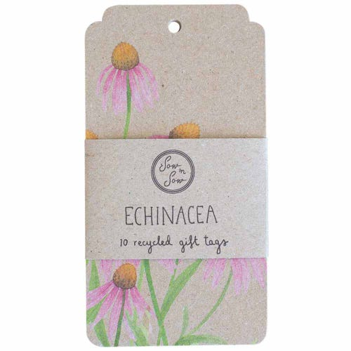 Sow n Sow Gift Tags - Echinacea (10 Pack)