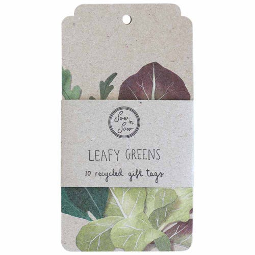 Sow n Sow Gift Tags - Leafy Greens (10 Pack)