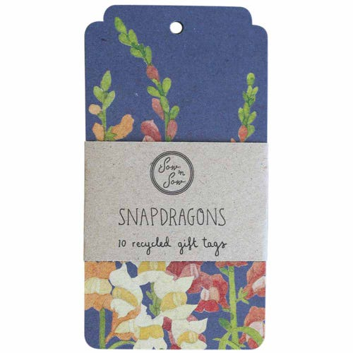 Sow n Sow Gift Tags - Snapdragons (10 Pack)