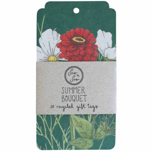 Sow n Sow Gift Tags - Summer Bouquet (10 Pack)