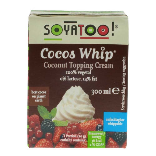 Soyatoo Coconut Whip Topping Cream (300ml)