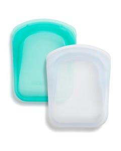 Stasher Pocket Set - Clear & Aqua
