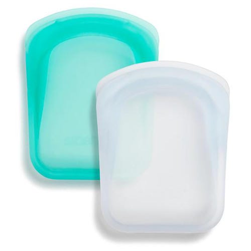 Stasher Pocket Set - Clear & Aqua