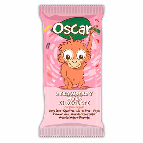 The Chocolate Yogi Oscar Strawberry Mylk Bar (15g)