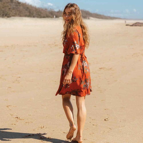 Tasi Travels Wilder Wrap Dress Native