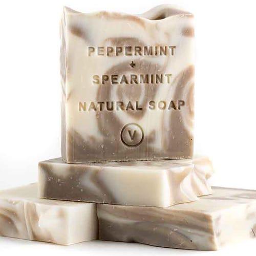 The Tasmanian Soap Co - Peppermint  & Spearmint Soap (100g)