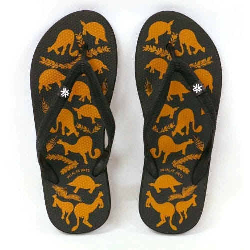 Etiko Natural Rubber Thongs - Stone Country Animals