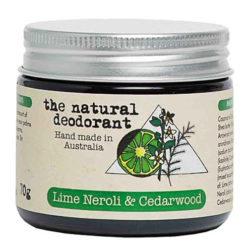 The Natural Deodorant Jar - Lime, Neroli & Cedarwood (70g)c