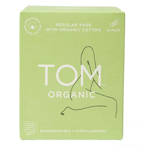 TOM Organic Regular Ultra Thin Pads (10 pack)