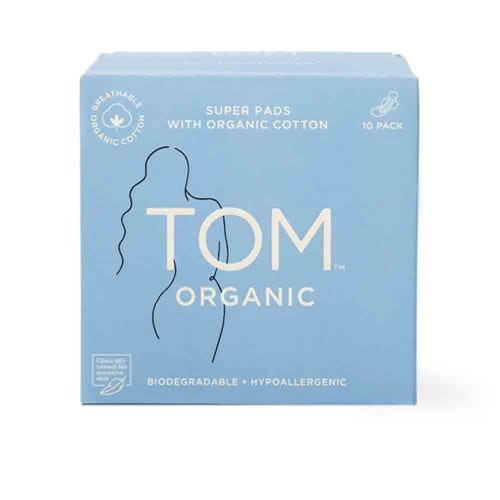 TOM Organic Super Ultra Thin Pads (10 pack)