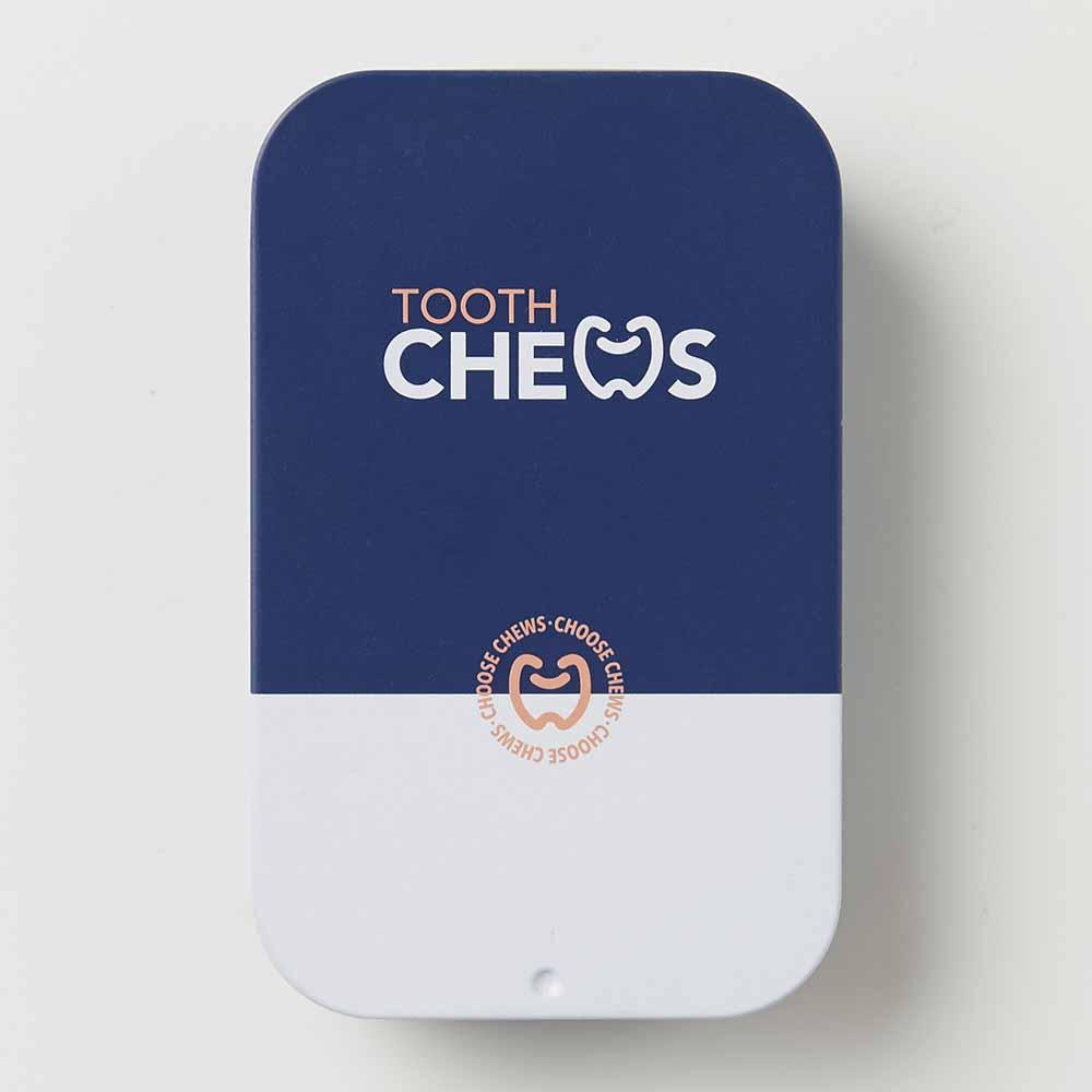 Chews Dispenser Tin Blue