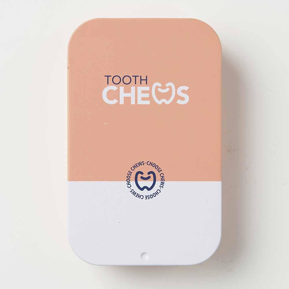 Chews Dispenser Tin Peach