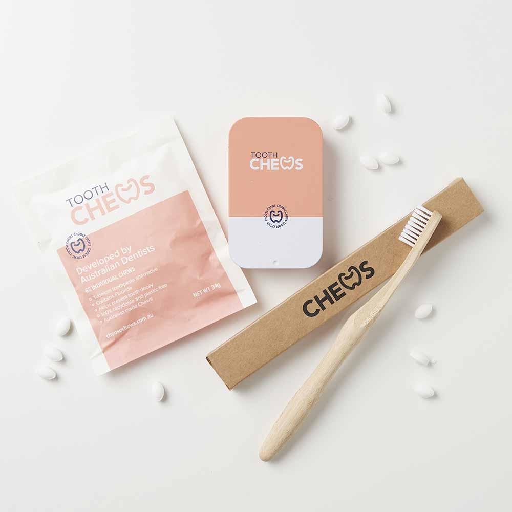 Chews Eco-Dental Kit - Peach Tin