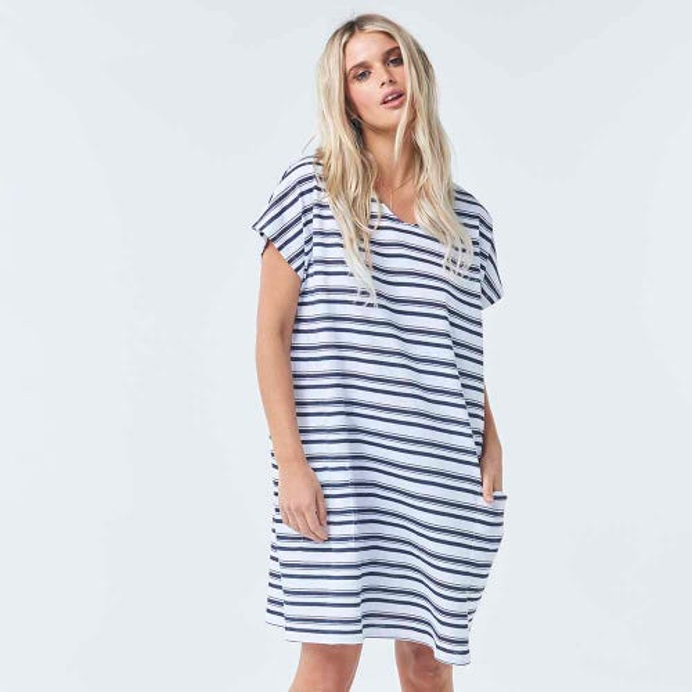 Torju Surf Coast Stripe Dress  - Large Only