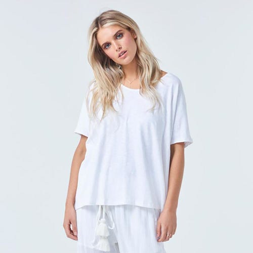 Torju Summer Organic Cotton White Tee