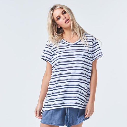 Torju Catch A Wave Organic Cotton Stripe Tee