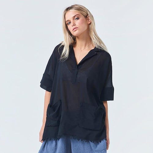 Torju Beach Resort Organic Cotton Ink Shirt
