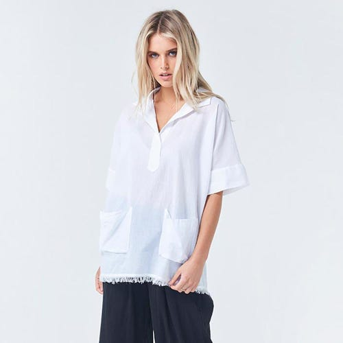 Torju Beach Resort Organic Cotton White Shirt