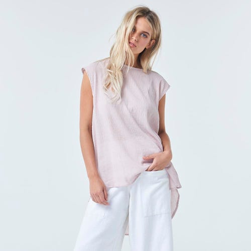 Torju Cape Otway Organic Cotton Blush Top