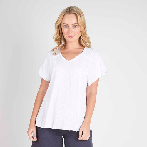 Torju Boardwalk Organic Tee - White