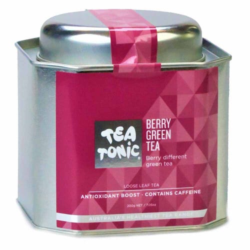 Tea Tonic Berry Green Loose Tea in a Tin 200g