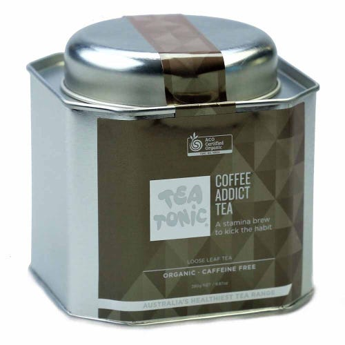 Tea Tonic Coffee Addict Loose Tea in a Tin 280g