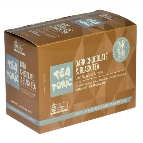 Tea Tonic Dark Chocolate & Black Tea Bags (20)