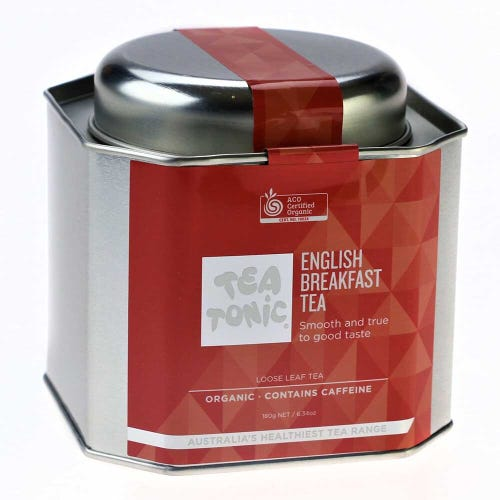 Tea Tonic English Breakfast Tea in a Tin 180g