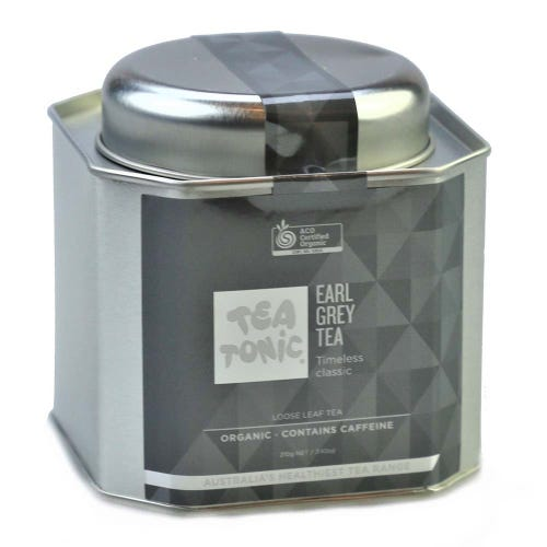 Tea Tonic Earl Grey Loose Tea in a Tin 210g