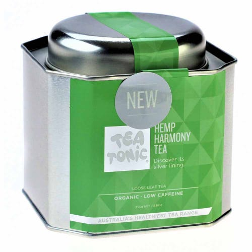 Tea Tonic Hemp Harmony Loose Tea in a Tin 250g